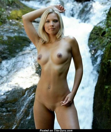 Image. Nude awesome lady with medium natural boobs photo