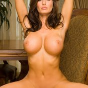 Brunette with big fake tittys image
