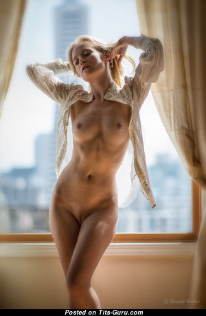 Gabriella Toth - Pretty Blonde with Pretty Bald Natural Titty (Porn Wallpaper)