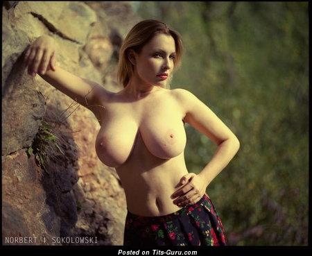 Dagmara Bajura - Yummy Polish Red Hair Babe with Yummy Bare Great Breasts (18+ Picture)