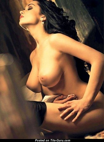 Image. Sexy brunette with natural tits image