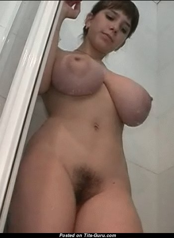 Yulia Nova - Gorgeous Russian Red Hair Babe Jumping Marvelous Defenseless Real Massive Tit in the Shower (Porn Gif)