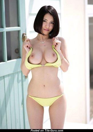 Splendid Asian Babe with Splendid Defenseless Med Knockers (Hd Sexual Wallpaper)