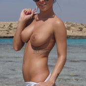 Hot female with big natural boobies image