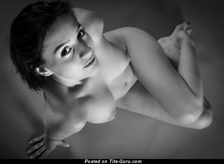 Image. Nude awesome female with medium natural breast pic