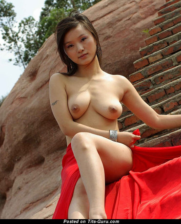 Nude asian with medium natural tittys image