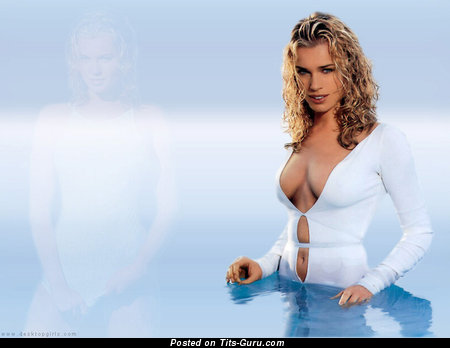 Image. Rebecca Romijn - naked amazing female with big natural breast image