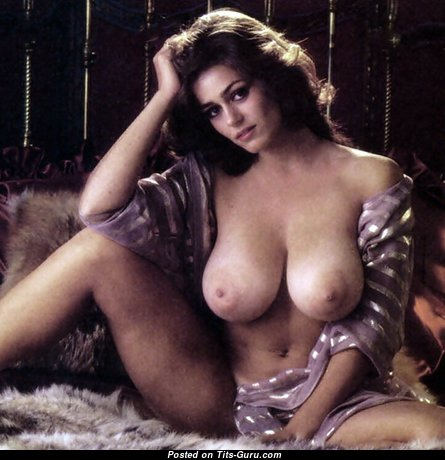 Karen Price - Delightful American Playboy Lady with Delightful Bare Natural Ddd Size Breasts (Vintage Sexual Picture)