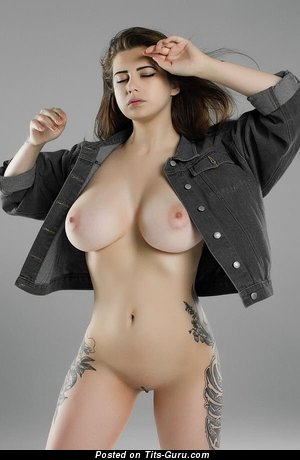 Pleasing Babe with Pleasing Naked Natural Medium Hooters (Sex Image)
