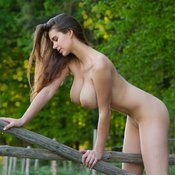 Wonderful female with natural boobies photo