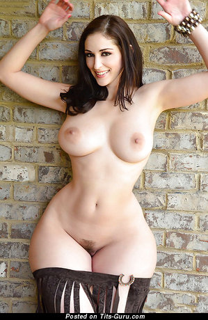 Image. Naked beautiful lady with big natural tits photo