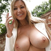 Hot female with huge natural tits image