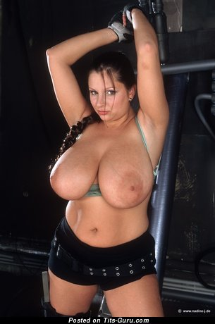 Nadine Jansen - Pleasing German Red Hair Pornstar & Babe with Pleasing Naked Natural Enormous Boobie is Undressing (Cosplay Sexual Image)