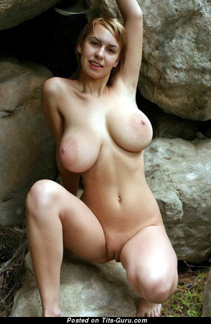 Charming Female with Charming Naked Natural G Size Boobie & Erect Nipples (Porn Picture)