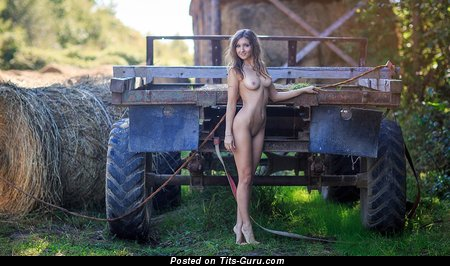 Image. Nude nice female with medium natural tittys image
