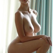 Wonderful lady with big natural boobs image