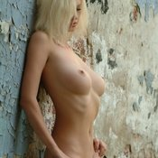 Blonde with medium breast pic