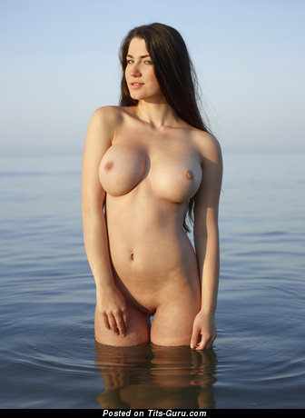 Image. Yara Hegre - brunette with big breast pic