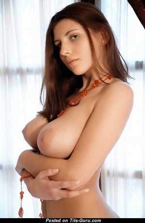 Adorable Babe with Adorable Bare Real Soft Busts (Sexual Image)