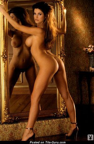 Tishara Cousino - naked brunette with big fake tots image