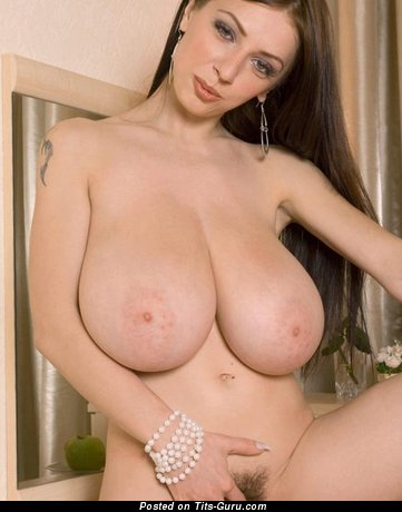 Sexy nude wonderful woman with big natural tittes photo