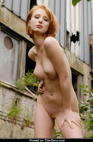 Image. Clelia Domai - naked red hair with medium natural tittys image