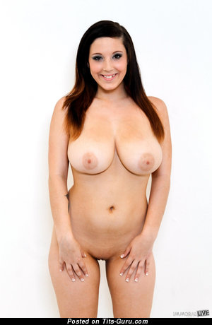 Sexy nude brunette with big natural tits picture