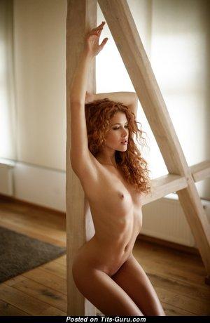 Heidi Romanova - Lovely Latvian Red Hair Pornstar with Lovely Bald Natural Tit (Hd Xxx Photoshoot)