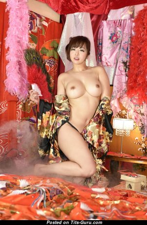 Kaori - Stunning Topless Japanese Brunette with Stunning Open Real Dd Size Breasts (Hd 18+ Photoshoot)