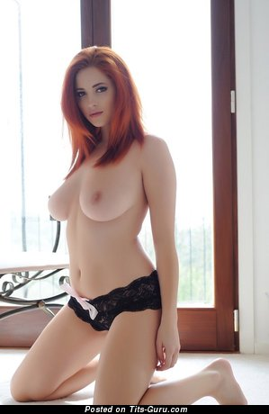 Image. Lucy V - sexy naked red hair with medium tittys image