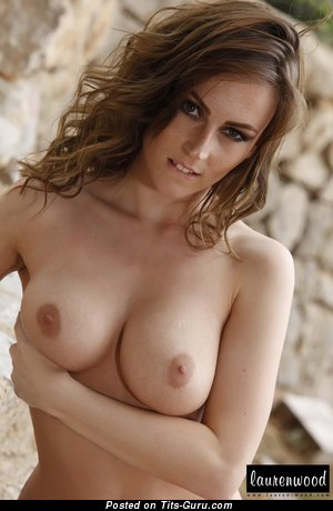 Image. Lauren Wood - naked nice woman with big natural tittys image