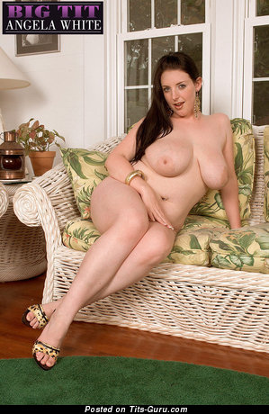 Image. Angela White - nude brunette with big natural boobs photo
