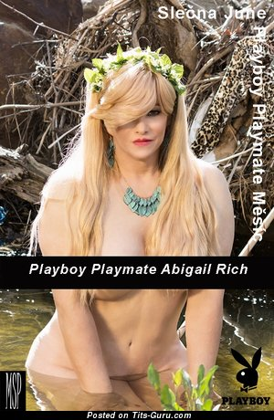Abigail Rich - topless blonde with big nipples photo