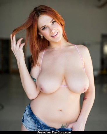 Image. Nude red hair with big natural tittes image