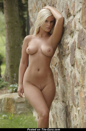 Image. Blonde with medium natural tittys photo