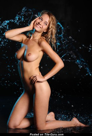 Image. Nude wonderful lady with medium natural boob pic