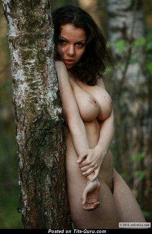 Delightful Brunette with Delightful Open Natural H Size Titties (Hd Sex Pix)