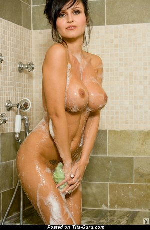 Image. Wet brunette with big tittes pic