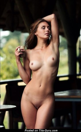 Image. Nude wonderful girl with medium natural tits photo