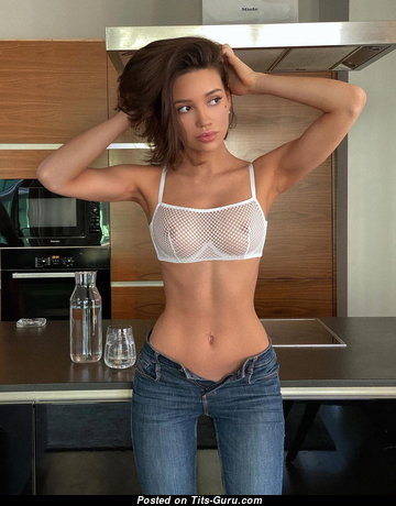 Alina Lando - Gorgeous Non-Nude Brunette with Gorgeous Real Boobs (Hd Sex Image)