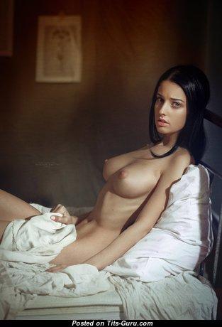 Alla Berger - Pretty Russian Brunette with Pretty Defenseless Natural Medium Sized Tittys (Xxx Picture)