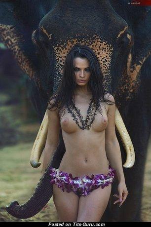 Ekaterina Vladi - Graceful Russian Bimbo with Graceful Defenseless Average Boob (Porn Wallpaper)
