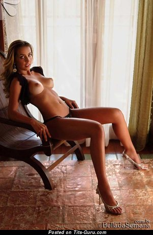 Ana De Castro - Yummy Brazilian Blonde with Yummy Nude Real Tight Tits (Sexual Photo)