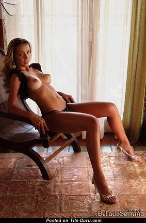 Image. Ana De Castro - nude blonde with medium boob pic