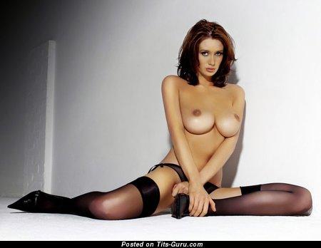 Image. Peta Todd - red hair with big natural tittes photo