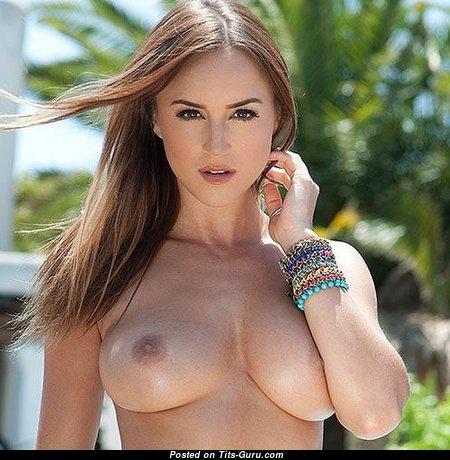 Elegant Babe with Elegant Defenseless Natural Mid Size Boobie (Porn Photoshoot)