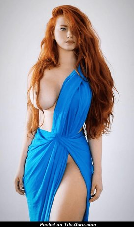Beautiful Escort & Playboy Red Hair with Beautiful Nude D Size Breasts (Hd Sexual Image)