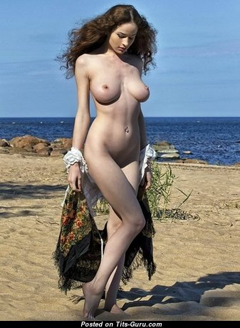 Sexy nude hot lady with big natural boobs image
