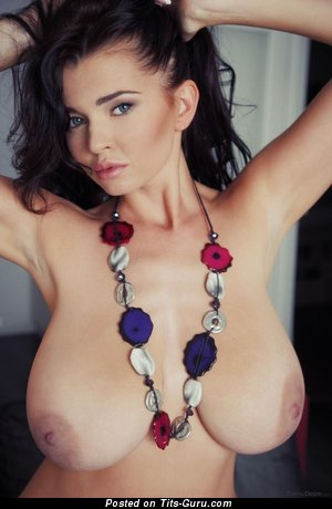 Image. Naked nice girl with big natural breast image