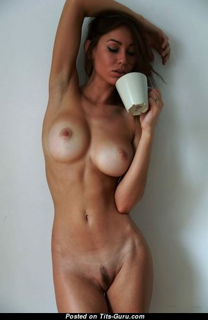 The Nicest Topless Brunette with The Nicest Exposed Normal Jugs (Hd Porn Wallpaper)